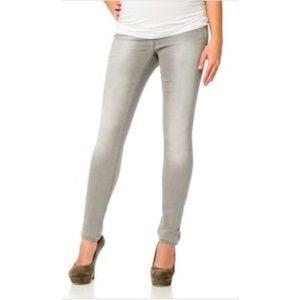 Denim - Gray Maternity Jeans